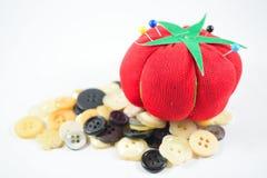 Tomate de coussin de Pin image libre de droits