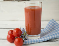 tomate de jus Photographie stock