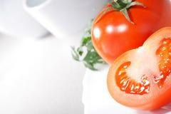 Tomate de plaque Photo stock