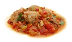 Tomate de poulet épicée Image libre de droits