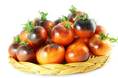 Tomate del negro de la rosa del añil del tomate Fotografía de archivo