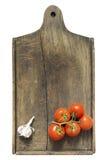 Tomate e alho Imagens de Stock Royalty Free