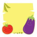 Tomate e beringela engraçados Imagem de Stock Royalty Free