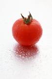 Tomate e gotas Fotos de Stock Royalty Free