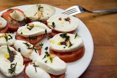 Tomate e mussarela Imagem de Stock Royalty Free