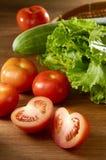 Tomate e vegetais Fotografia de Stock Royalty Free