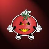 Tomate effrayante de des bonbons ou un sort illustration stock