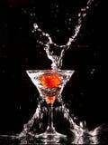 Tomate em um vidro Imagens de Stock Royalty Free