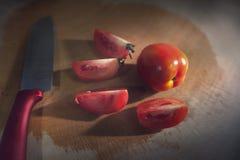 Tomate en cocina Fotografía de archivo libre de regalías
