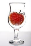 tomate en verre photo libre de droits