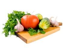 Tomate et concombre Image stock
