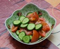 Tomate et concombre Images stock