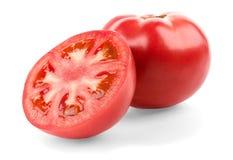 Tomate et demi Photos stock