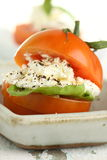 Tomate et fromage blanc Image libre de droits