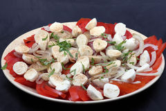 Tomate et mozzarella Photo stock
