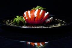 Tomate et mozzarella Photo stock