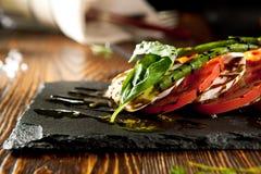 Tomate et mozzarella Caprese photo libre de droits
