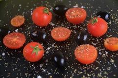 Tomate et olives Image libre de droits