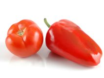 Tomate et paprika rouge Images libres de droits