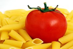Tomate et Penne photographie stock
