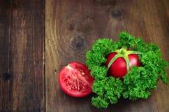 Tomate et persil Photo stock