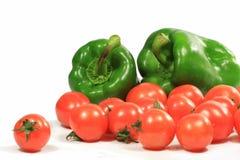 Tomate et poivre Photos libres de droits
