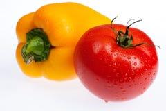 Tomate et poivre Photo libre de droits