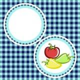 Tomate et poivre d'un plat illustration libre de droits