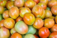 Tomate fraîche à vendre au marché Photographie stock