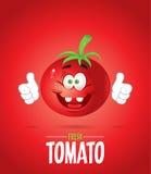 Tomate fraîche de sourire Photo stock