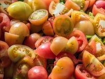 Tomate fresco cortado Foto de Stock