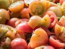 Tomate fresco cortado Imagens de Stock