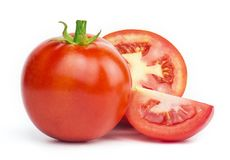 Tomate fresco isolado foto de stock