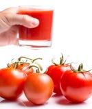 Tomate Gemüse-Juice Indicates Refreshing Refreshments And durstig lizenzfreie stockfotos