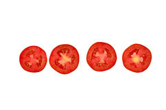 Tomate geschnitten lizenzfreie stockbilder