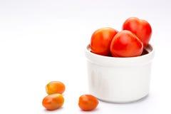 Tomate grande no fundo branco Foto de Stock Royalty Free