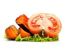 tomate grillée par raccord en caoutchouc Photographie stock libre de droits