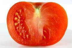 Tomate halb Stockfotografie