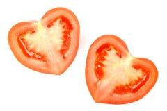 Tomate heart-shaped fresco imagem de stock royalty free