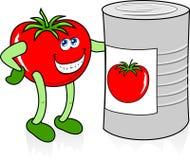Tomate heureuse Photographie stock libre de droits