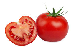 Tomate isolado no branco Fotografia de Stock