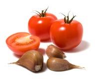 Tomate isolado no thebackground branco Fotografia de Stock