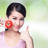 Tomate ist für Gesundheit groß Lizenzfreies Stockfoto