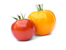 Tomate jaune et rouge Images libres de droits