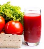 Tomate Juice Glass Means Refreshment Thirsty e rafrescamentos fotos de stock royalty free