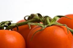 tomate mûre sur un fond blanc Photo stock