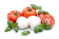 Tomate-Mozzarella Lizenzfreie Stockbilder