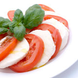 Tomate-mozzarella Photos stock