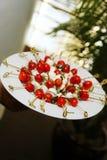 Tomate-Mozzarella-Aperitifs Stockbilder