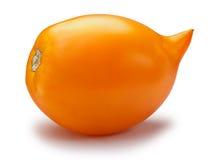 Tomate oblongue jaune, chemins Photos stock